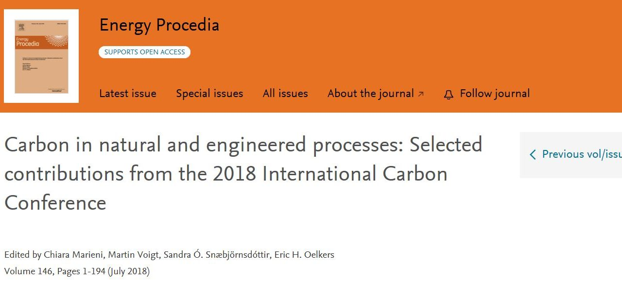 ICC 2018 in Energy Procedia