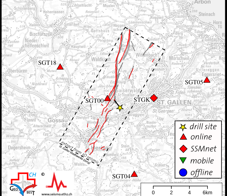 News from S4CE field site in St.Gallen: Additional station for microseismic network online since June 2018