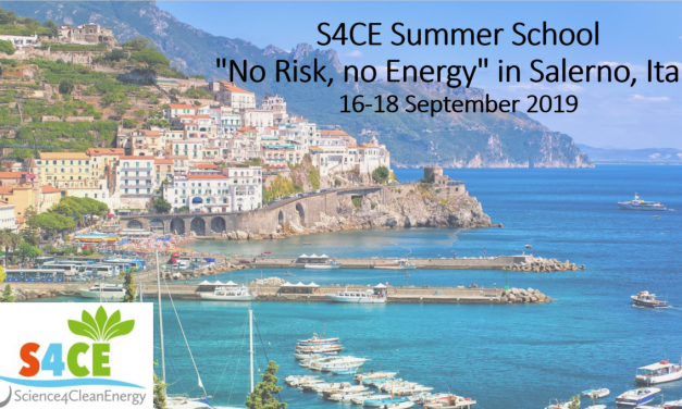 """S4CE is organising a Summer School """"No Risk, no Energy"""" in Salerno, Italy 16-18 September 2019"""