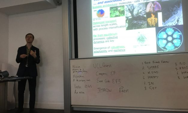 S4CE and Summer Challenge 2019 at UCL: Engineering Solutions from Nature.